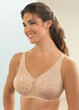 Glamorise 1045 Wonderwire Satin & Lace Full Figure Bra