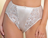 Valmont #5021 Satin & Lace Hi-Cut Brief
